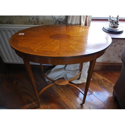 40 - OVAL EDWARDIAN OCCASIONAL TABLE...