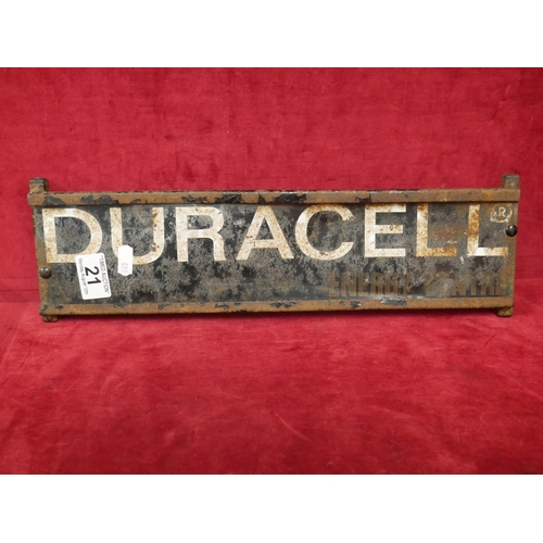 21 - DURACELL SIGN...