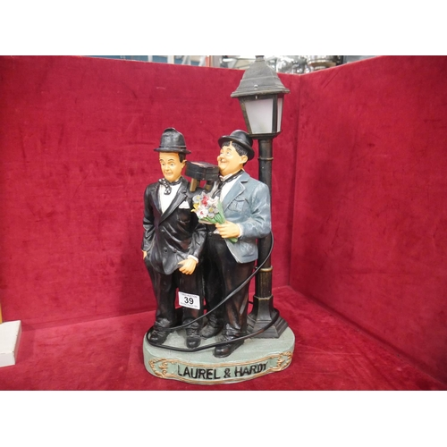 39 - LAUREL & HARDY LAMP...