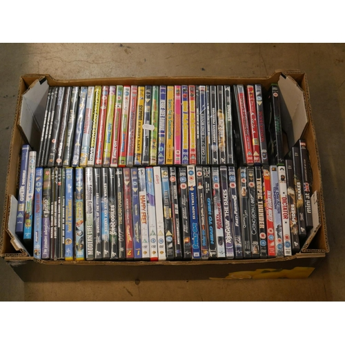 44 - BOX OF DVDS...