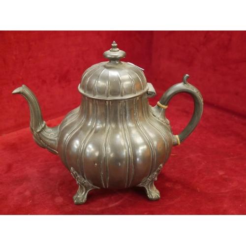 60 - PEWTER TEA POT...