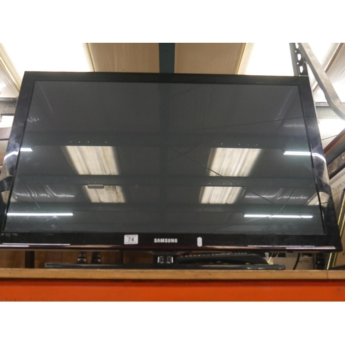 74 - SAMSUNG TV WITH REMOTE (FAULTY)...