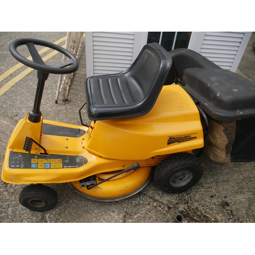 25 - MCCULLOCK RIDE ON LAWNMOWER (SERVICED & WORKING)...