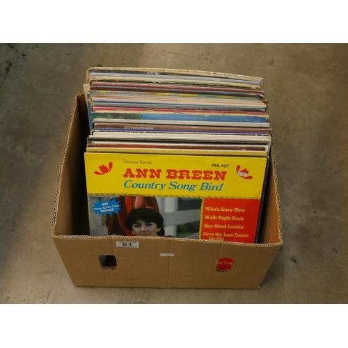81 - BOX OF RECORDS...
