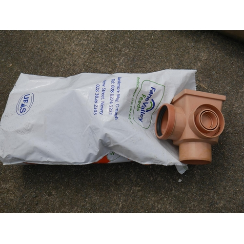 33 - BAG OF SEWER FITTINGS...