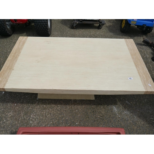 42 - MARBLE EFFECT COFFEE TABLE...