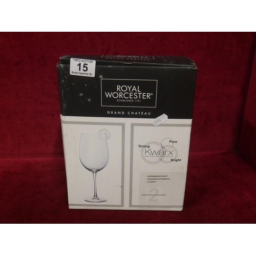 15 - BOXED WINE GLASSES...