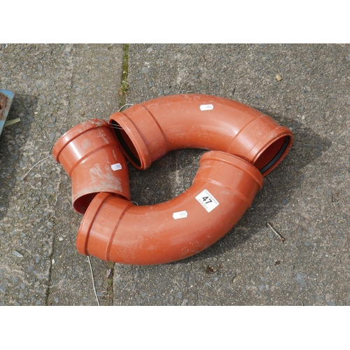 47 - SEWER PIPE FITTINGS...