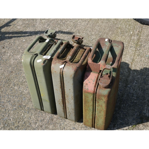 12 - 3 JERRY CANS...