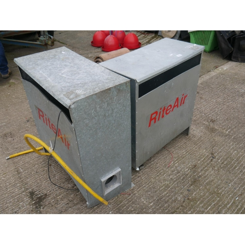 13 - 2 GALVANISED STORAGE UNITS...