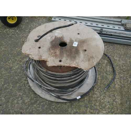 17 - PART ROLL OF ARMOURED CABLE...