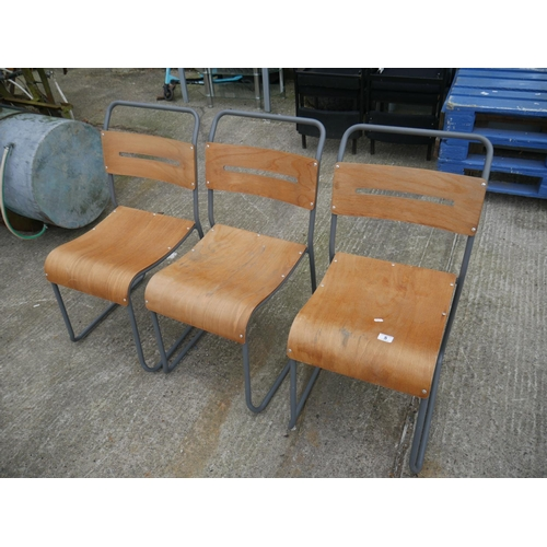5 - 3 BENTWOOD CHAIRS...