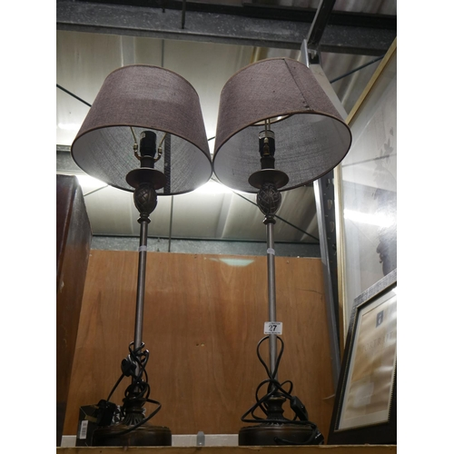 27 - 2 TABLE LAMPS...