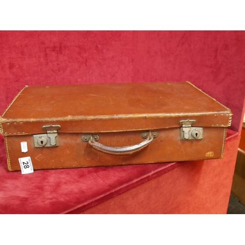 28 - LEATHER CASE...