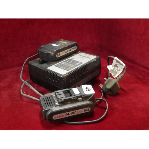 49 - PANASONIC BATTERIES & CHARGER...