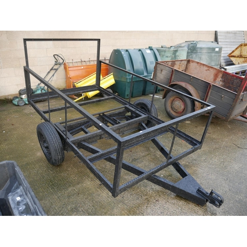 4 - SINGLE AXLE TRAILER FRAME...