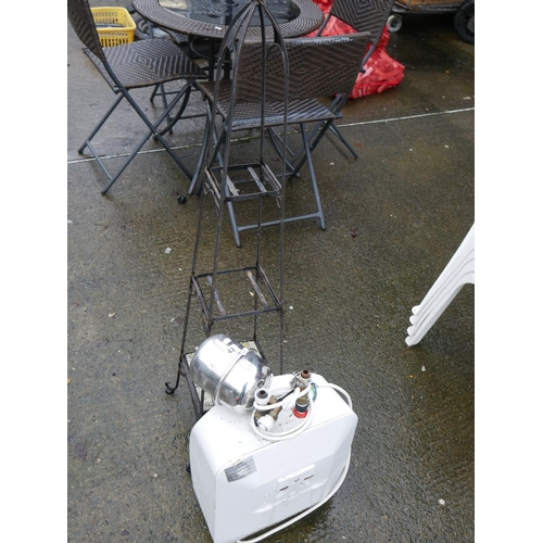 42 - PLANT STAND & HOT WATER GEYSER...