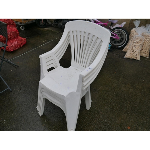 43 - 4 PLASTIC CHAIRS...