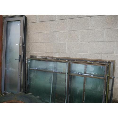 12 - LOT OF ALUMINIUM WINDOWS & DOOR...