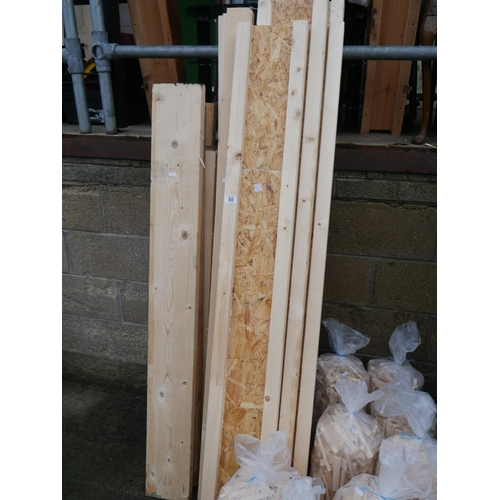 50 - LOT OF WHITE WOOD...