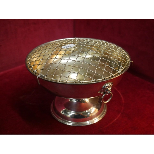15 - SILVER PLATED ROSE BOWL...