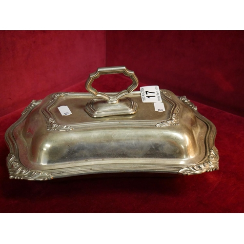 17 - SILVER PLATED LIDDED DISH...