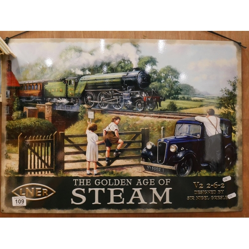 109 - GOLDEN AGE OF STEAM SIGN...