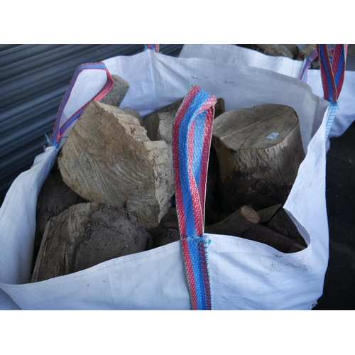 2 - TOTE BAG OF LOGS (WELL SEASONED)...