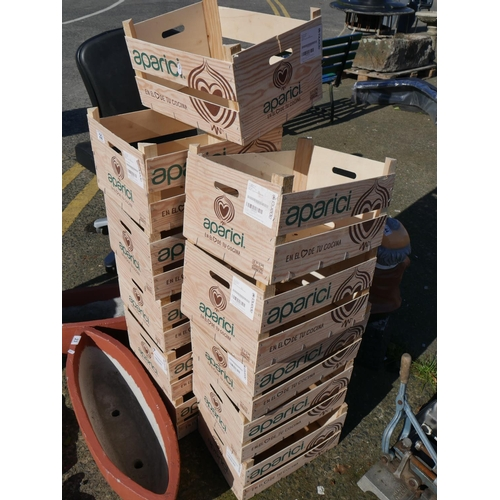 22 - LOT OF WOODEN BOXES...