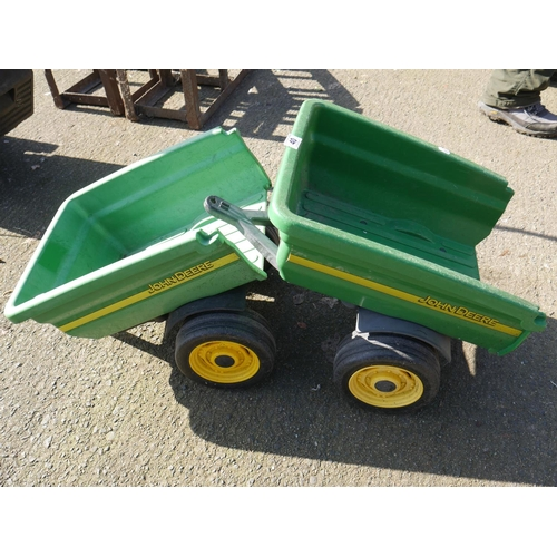 40 - 2 TOY TRAILERS...