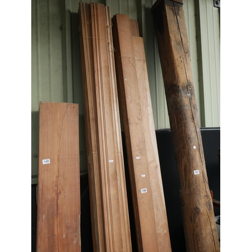 148 - LOT OF SKIRTING BOARD & CHERRY ARCHITRAVE...