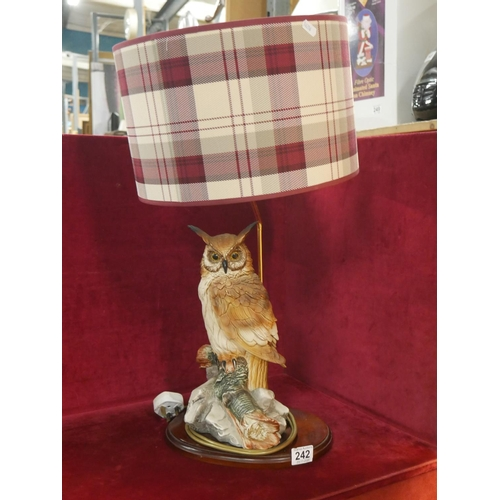 242 - FIGURINE LAMP...