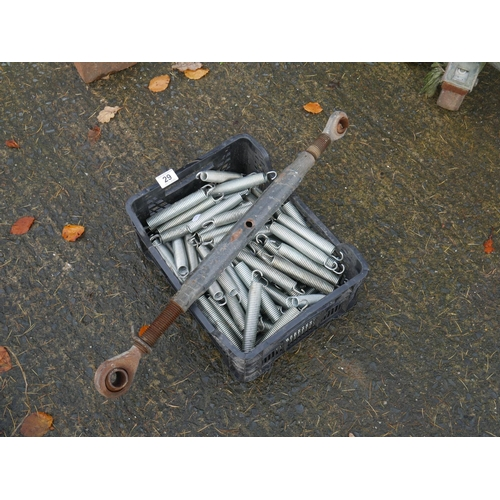 29 - BOX OF TRAMPOLINE SPRINGS & TOP LINK...