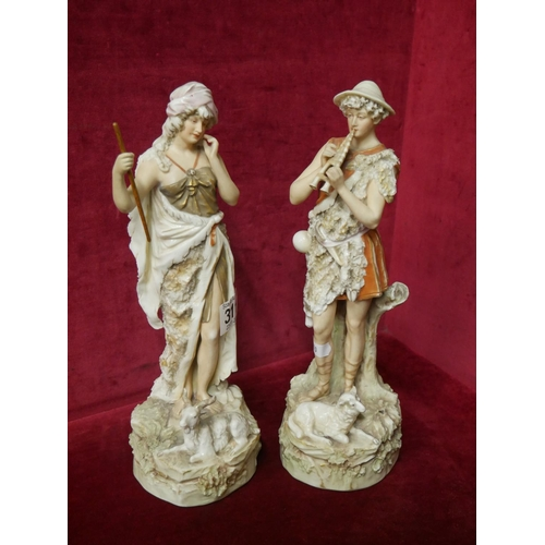 311 - PAIR OF ROYAL DUX FIGURES...