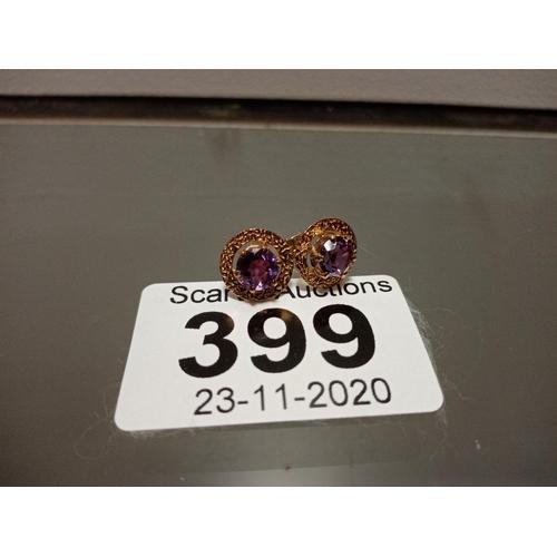 399 - PAIR OF 9CT EARRINGS...