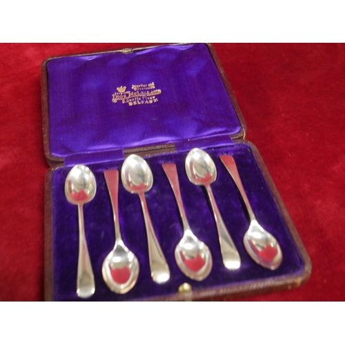 408 - 6 SILVER TEASPOONS (BOXED)...