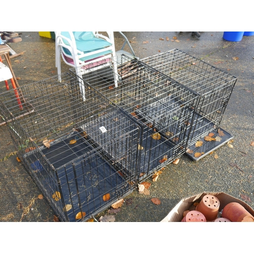83 - 3 SMALL DOG CAGES...