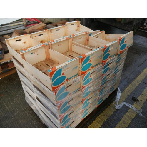 3 - PALLET OF WOODEN BOXES...