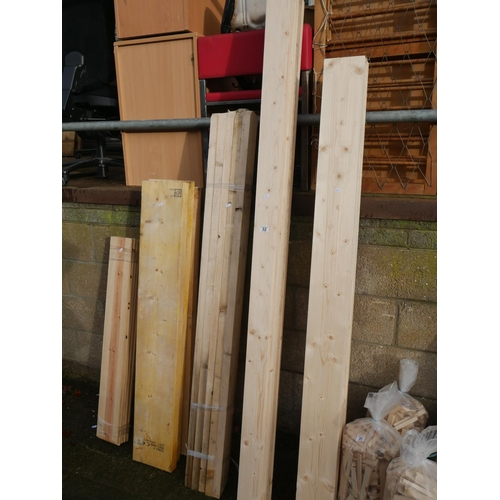 32 - LOT OF WHITE WOOD...