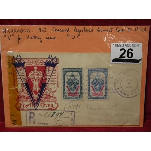 26 - NICARAGUA 1943 COVER...
