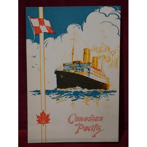 29 - CANADIAN PACIFIC MENU CARD...