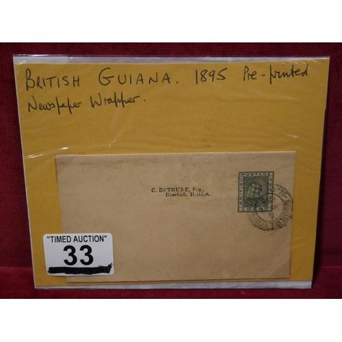 33 - BRITISH GUIANA 1895...