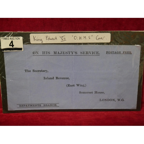 4 - KING EDWARD VII O.H.M.S. COVER...