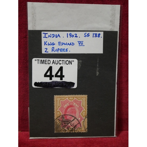 44 - INDIA 1902 FRANKED STAMP...