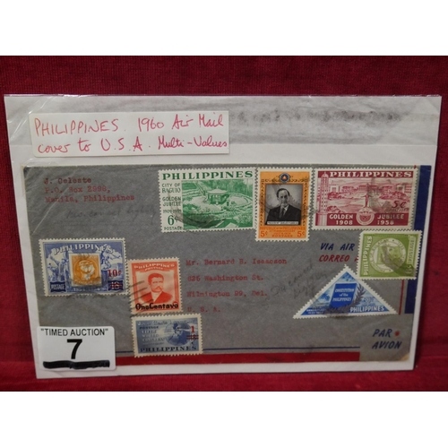 7 - PHILIPPINES 1960 AIR MAIL COVER...
