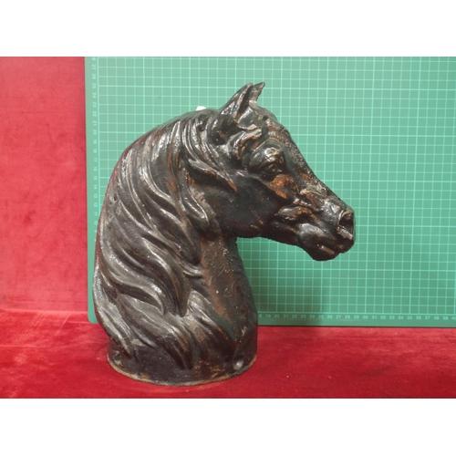 116 - CAST IRON HORSE HEAD...