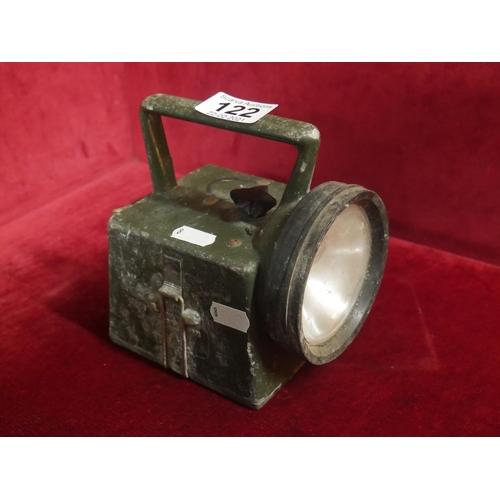 122 - MILITARY LAMP...