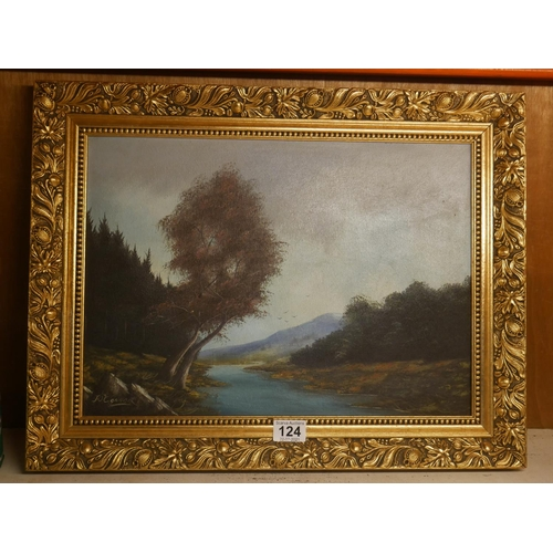 124 - J. O'CONNOR OIL PAINTING...