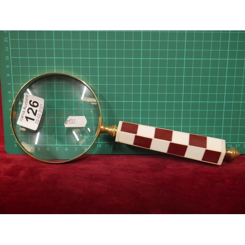 126 - LARGE MAGNIFYING GLASS...
