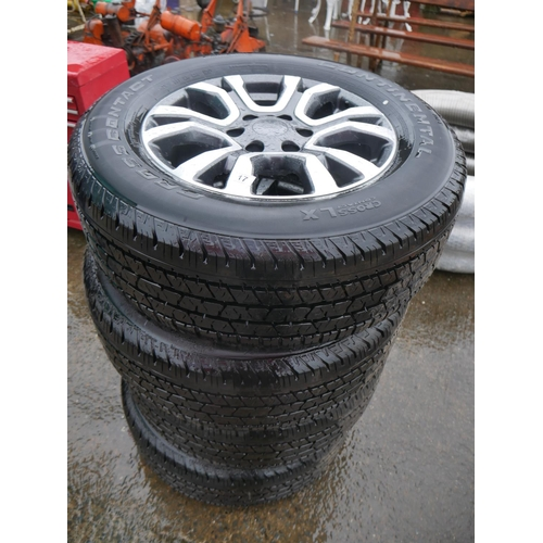 17 - SET OF AS NEW FORD RANGER ALLOY WHEELS & TYRES...